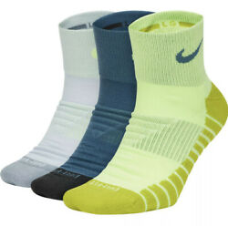 Nike 3 Pack Everyday Max DRI FIT Training ANKLE Socks SX5549 955 Men's Size 6-8 $14.99