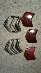 1940 Ford Lot Stimsonite Duolamp Red Glass Taillight Lens Blue Dot Glass Jewel