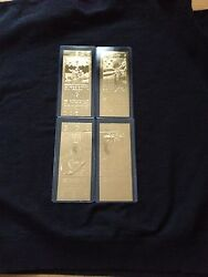 Pittsburgh Steelers Super Bowl Ix, X, Xiii And Xiv 22kt Gold Ticket Set New