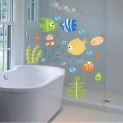 Funny Wall Stickers Tropical Fish Underwater Wall Decals Baby Room Stickers