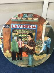 Williams Sonoma Tuscan Storefronts La Vineria Dinner Plate Guy Buffet Mint