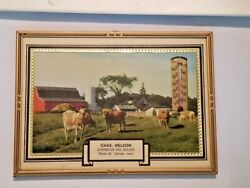 Vintage 1950 Chas. Nelson Calendar/thermometer Cylinder Iowa