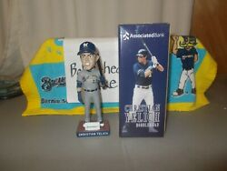 Nib 2019 Christian Yelich Brewers Bobblehead Associated Bank Exclusive