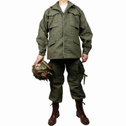 Wwii Us Army M43 Suit Cotton Outdoor Field Trench Coat Trousers-34r