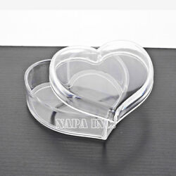 Heart Cosmetic Clear Acrylic Makeup Case Organizer Jewelry Accessories Storage $5.25