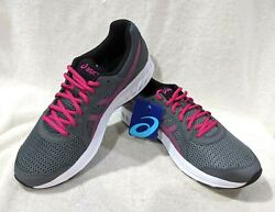 Asics Womenand039s Jolt 2 Steel Grey/pink Rave Running Shoes-size 12 Nwb 1012a151-020