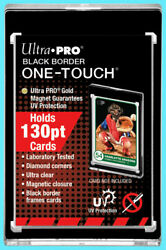 1 Ultra Pro ONE TOUCH MAGNETIC 130PT BLACK BORDER UV Trading Card Case Holder