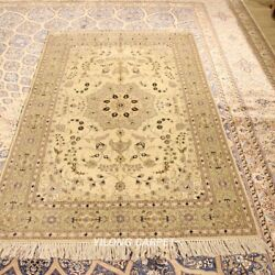 Clearance Yilong 4and039x6and039 Medium Handmade Wool Area Rugs Hand-knotted Carpet 2101