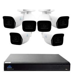 Montavue-8 Channel 4k Ai Nvr W/ 6 5mp Ai Smart Motion Bullet Cameras With Built-