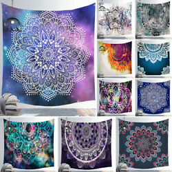 1Pcs Psychedelic Mandala Tapestry Hippie Room Wall Hanging Throw Tapestry Decor