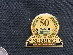 Mobil 1 12 Hours Of Sebring 50th Anniversary Lapel Pin Tac March 16 2002