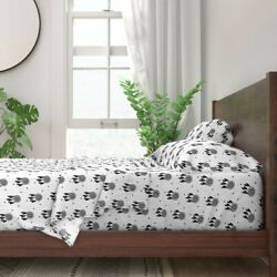 Black + White Dream Catcher Native 100% Cotton Sateen Sheet Set by Roostery