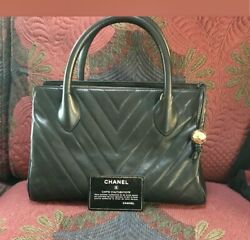 Vintage Satchel With Chevron Quilted Pattern And Detachable Shoulder Strap