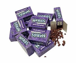 Wonka Nerds 60 Enticing Purple Mini Boxes-grape Flavor Mouthwatering Candy Yummy