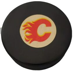 Calgary Flames Nhl Approved Official Game Puck Viceroy Mfg. Vintage 🇨🇦