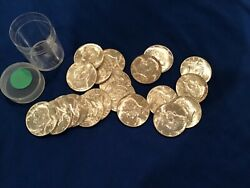 Kennedy Half Dollars 1965-1969. 40 Silver. 20 Coins. 10 Face Value. One Roll.