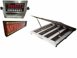 New Ntep 48 X 48 4and039x 4and039 Wash Down Stainless Steel Floor Scale 5000 Lb X 1 Lb
