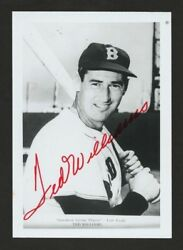 Ted Williams Autographed 3.5 X 5 Glossy Photo Finest Iconic Signature Imaginable