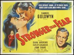 Film Noir / Stronger Than Fear Movie Poster Titled In The United States Edge