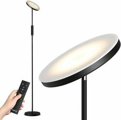 Led Floor Lamp Stepless Dimming/color Temperature Torchiere Lamp Remote Control