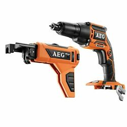 Aeg 18v Brushless Collated Screwdriver - Skin Only And Kit - German Brand