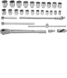 29-piece 3/4 Drive Socket And Drive Tool Set Only Sae 12 Point Williams Wsh-29