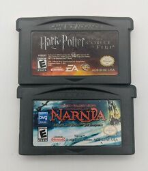 Harry Potter The Goblet Of Fire + Narnia Lion, Witch, And Wardrobe Gba Nintendo