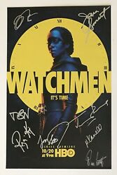 Nycc Hbo Watchmen Cast Signed Poster Dc Emmy Nominated Jeremy Irons Regina King
