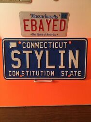 Connecticut License Plate Vanity Stylin Styling Cool Hairdresser Barber Groovy