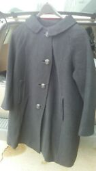 Vtg 50and039s Ladieand039s 3/4 Length Wool Coat. Custom Tailored Untaged