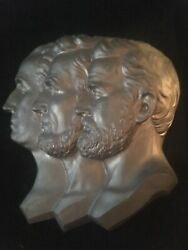 1869 A. Lincolngeorge Washingtonulysses S. Grant.bustandlitho. Museum Quality