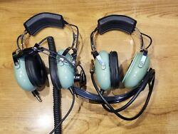 Two David Clark Headset H5030 / H10-76 Voice Powered As-is Untested