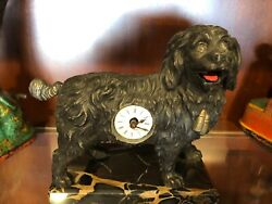 Mechanical Dog Clock 1890and039s - Tongue And Tail Wags