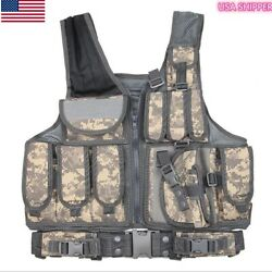 LDLC Loaded Gear Tactical Vest Right Hand w Holster ACU CAMO heavy duty  $59.00