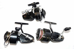 3 Garcia And Mitchell Vintage Spinning Reels 300 Half Bail And 325 Models Job...