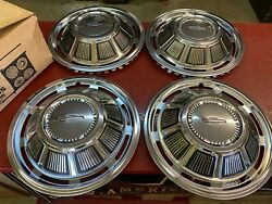 1969 Chevrolet Impala Caprice Triple Plated Wheel Cover Hubcap Set Nors