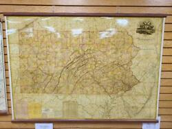 Pennsylvania 1848 State Map Antique Reproduction