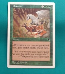 Overrun X1 Nm Anthologies. Spinach For Everyone Art Jeff Miracola Mtg
