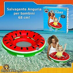 Lifebelt Ring Inflatable For Child Children Watermelon Swimming Pool Sea
