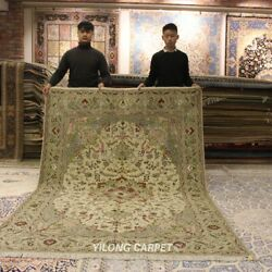 Clearance Yilong 6and039x9and039 Hand Knotted Wool Silk Area Rug Classic Carpets 1436