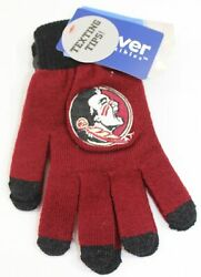 Florida State Seminoles Gloves W/ Texting Tips 1 Size Nwt Forever Collectibles