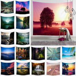 Natural Scenery Tapestry Bohemian Hippie Wall Hanging Indian Bedspread Throw US