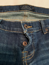 """Lucky Brand Little Maggie Button Fly Low Rise Jeans Size 4 J337.7 Inseam 33"""" $22.99"""