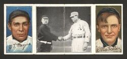 1912 T202 Hassan Christy Mathewson Partially Printed Back Rare Or One Of A Kind