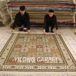 Yilong 6and039x9and039 Four Seasons Handmade Silk Carpet Family Hand Craft Area Rugs 208b