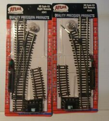 Lot Of 2 - Ho Scale - Atlas 540 And 541 Code 83 Remote Switch Left And Right New