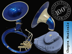 Buy SOUSAPHONE 22quot; Bb Flat Blue Color with Bag Mouth Piece Free $455.00
