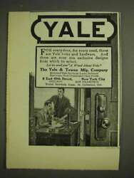 1914 Yale Locks And Hardware Ad - For Every Door