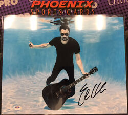 Eric Church Auto Autograph Signed 11x14 Photo Under Water Record Year Psa
