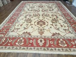 9and039 X 12and039 One-of-a-kind William Pak Peshawar Hand-knotted Wool Rug Nice